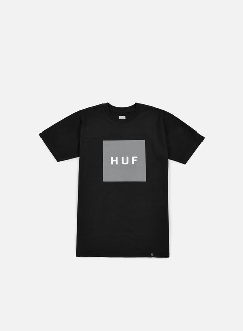 t shirt huf box logo t shirt black grey