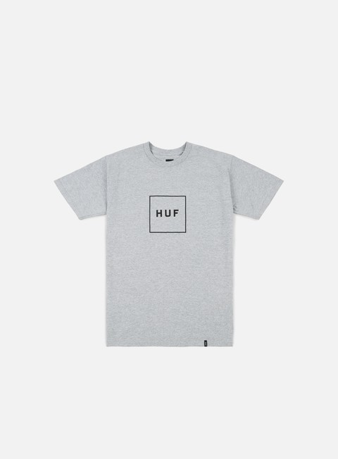 t shirt huf box logo t shirt grey