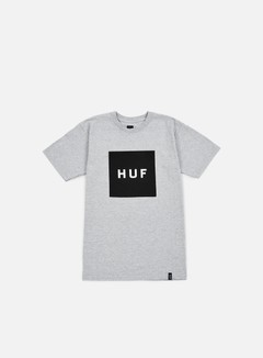 Huf - Box Logo T-shirt, Grey Heather/Black