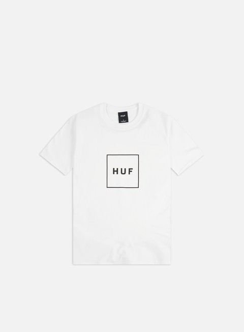 t shirt huf box logo t shirt white