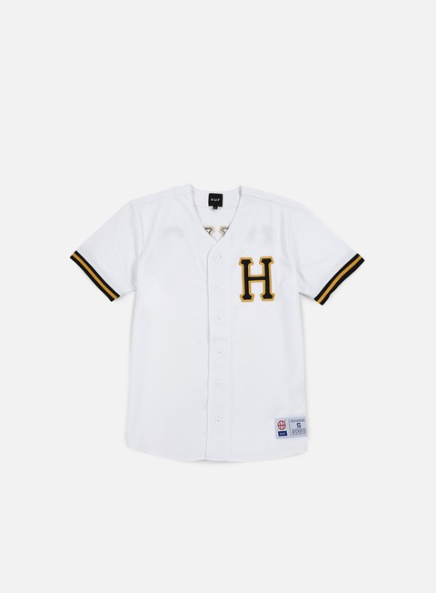 t shirt huf bush league baseball jersey white