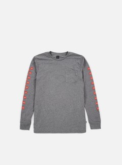 Huf - Chocolate Checkered LS Pocket T-shirt, Grey Heather 1