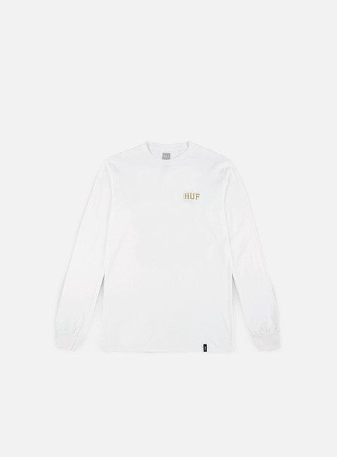 t shirt huf classic h glitter ls t shirt white