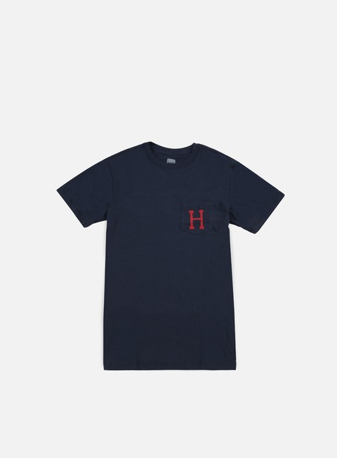 t shirt huf classic h pocket t shirt navy
