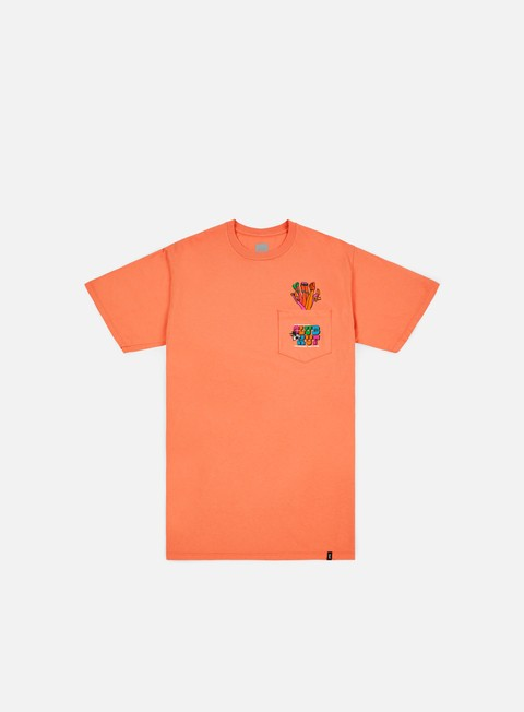 t shirt huf club huf pocket t shirt coral haze