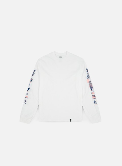 t shirt huf collage ls t shirt white