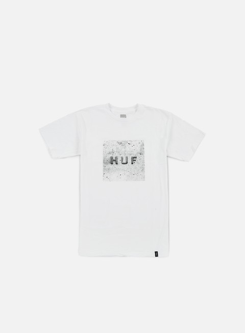 t shirt huf concrete box logo t shirt white