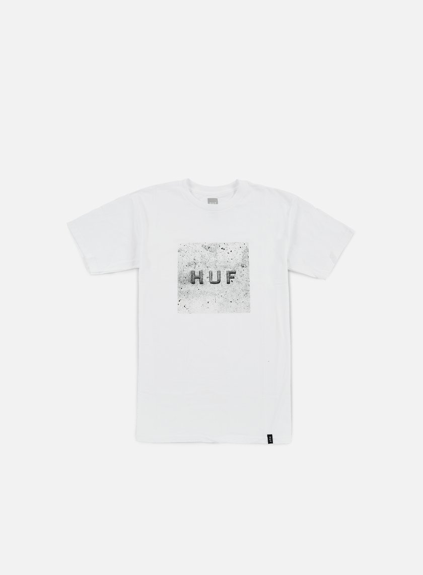 Huf - Concrete Box Logo T-shirt, White