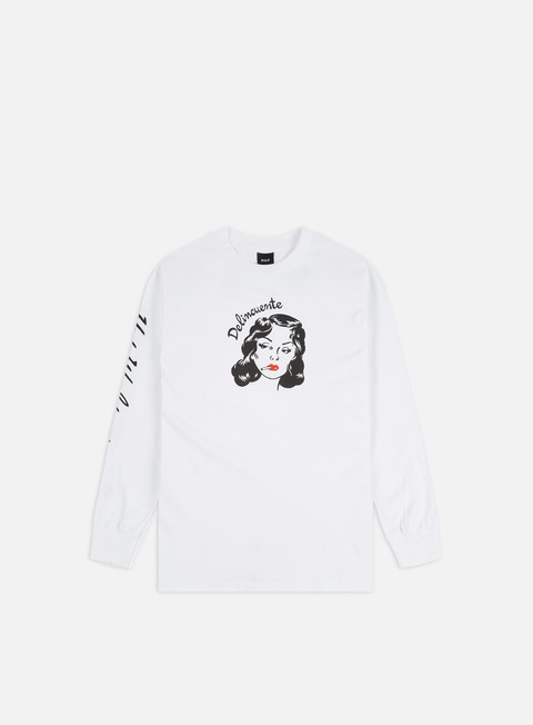 Long Sleeve T-shirts Huf Delincuente LS T-shirt