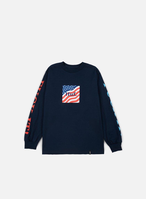 Huf - Domestic Fuck It LS T-shirt, Navy