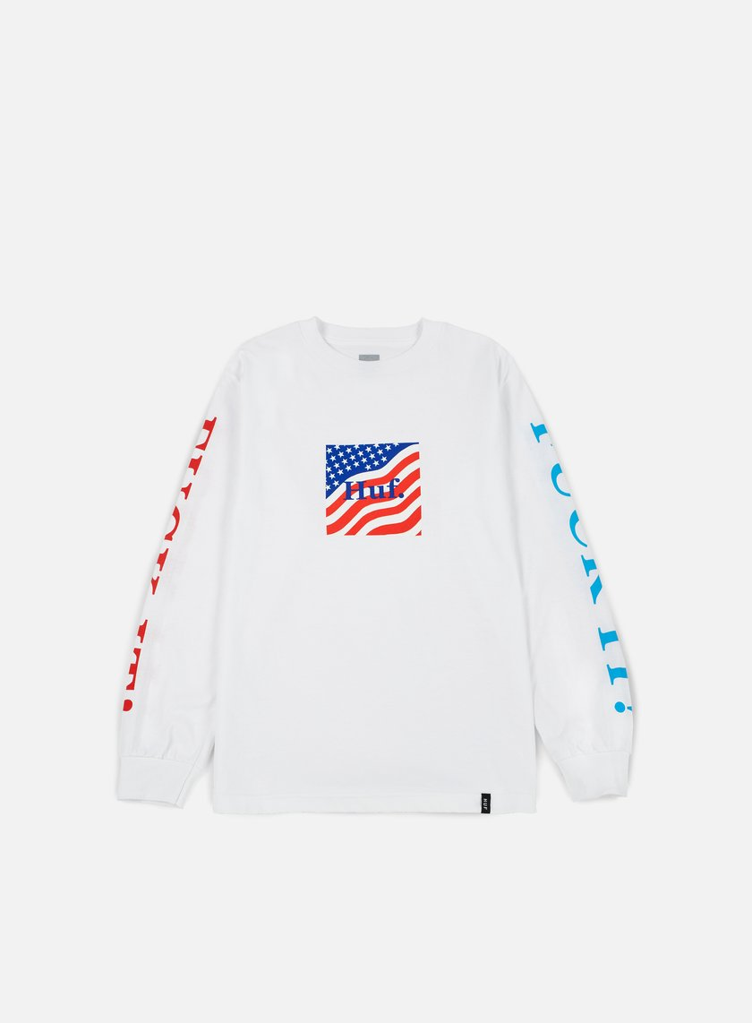 Huf - Domestic Fuck It LS T-shirt, White