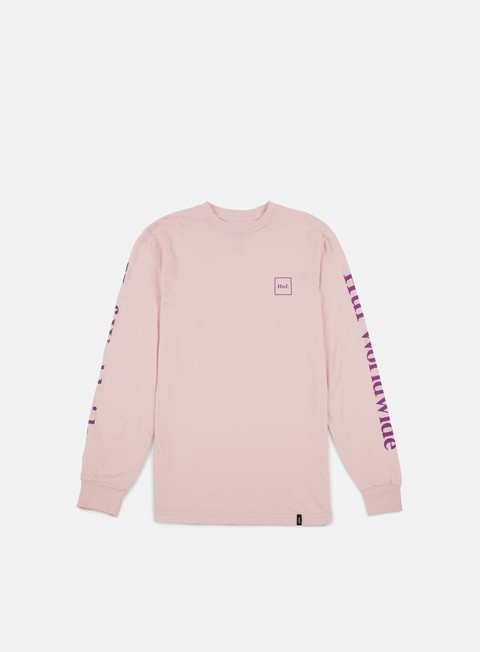 t shirt huf domestic ls t shirt pink