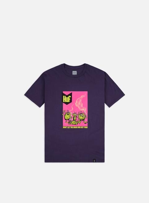 Outlet e Saldi T-shirt a Manica Corta Huf Drug Bugs T-shirt