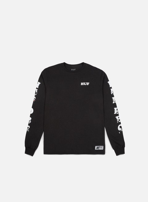 t shirt huf felix huf dbc ls t shirt black