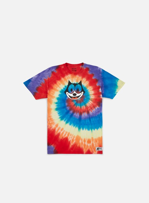 t shirt huf felix hypnotize spiral t shirt rainbow