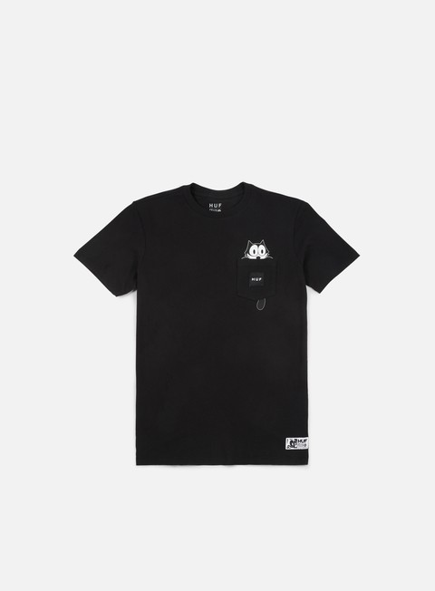 t shirt huf felix watching pocket t shirt black