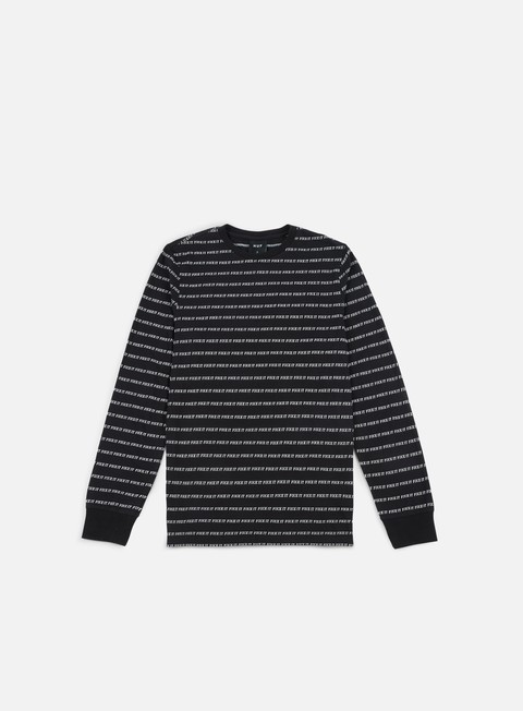 t shirt huf fuck it jacquard ls t shirt black