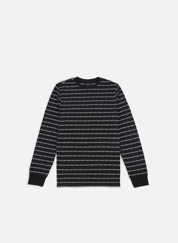 Huf - Fuck It Jacquard LS T-shirt, Black