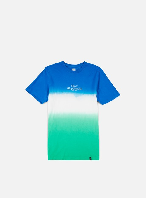 t shirt huf garment dip dye t shirt blue