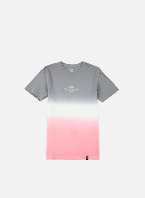 t shirt huf garment dip dye t shirt grey white pink