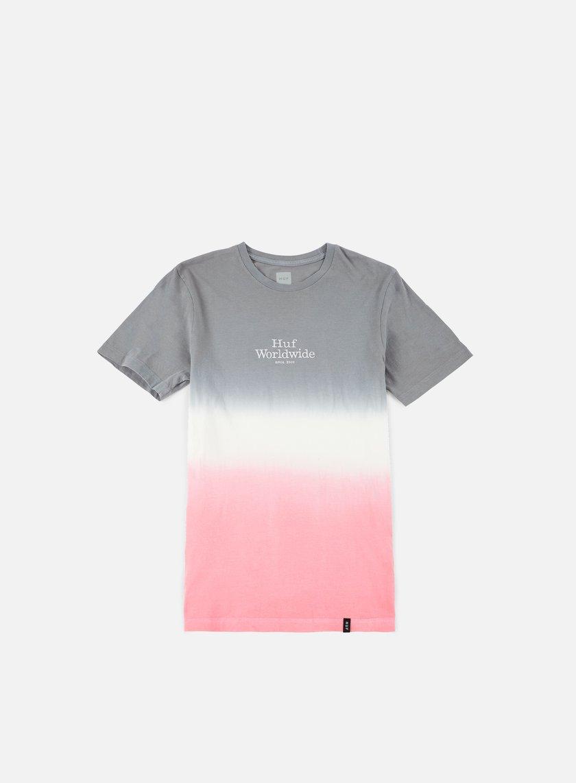 Huf - Garment Dip Dye T-shirt, Grey/White/Pink