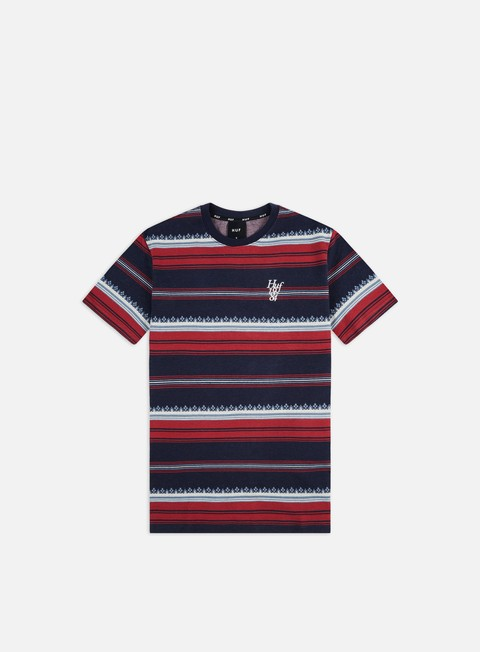 T-shirt a Manica Corta Huf Hana Striped Knit Top T-shirt