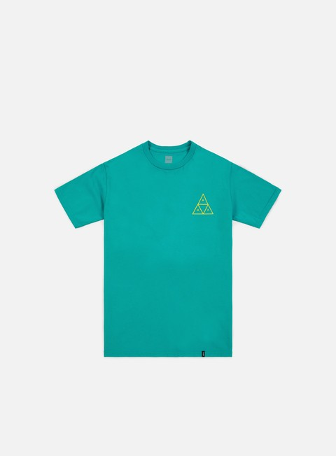 t shirt huf high tide triangle t shirt tropical green