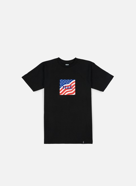 t shirt huf huf flag box logo t shirt black
