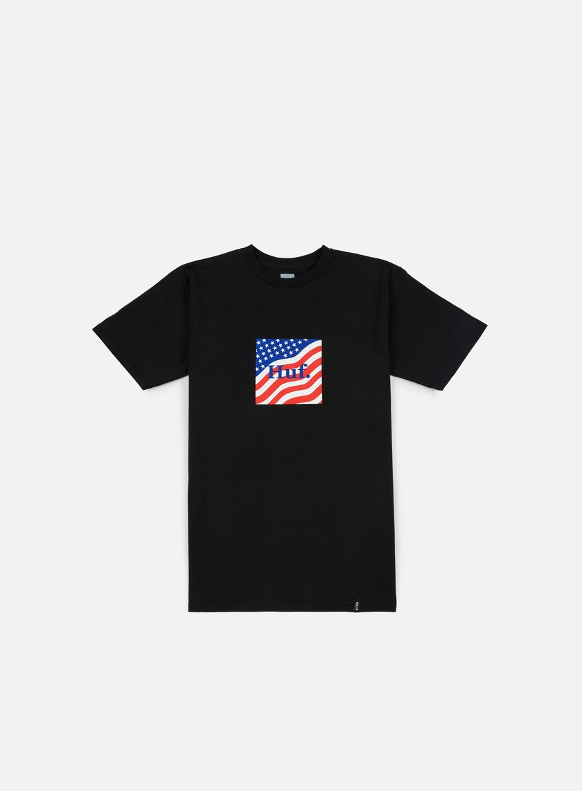 Huf - Huf Flag Box Logo T-shirt, Black