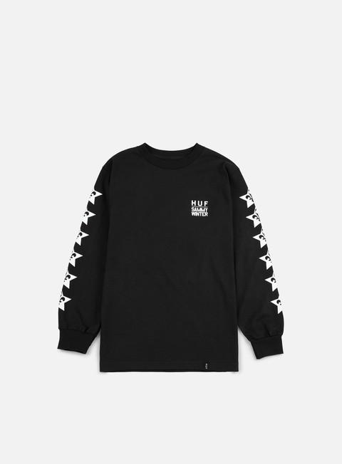 t shirt huf huf x cliche ls t shirt black