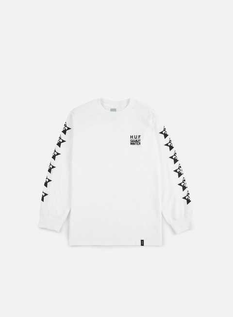 t shirt huf huf x cliche ls t shirt white