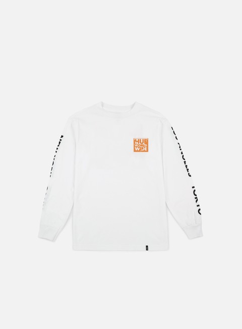 t shirt huf international block ls t shirt white