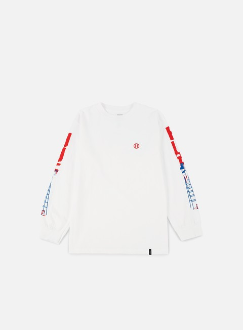 t shirt huf ladder ls t shirt white