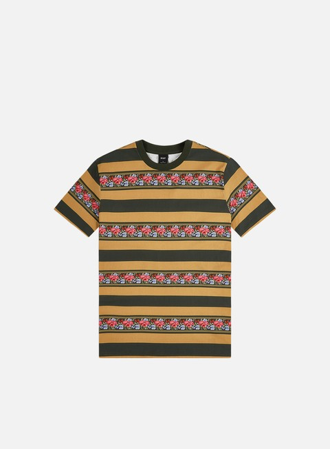 Outlet e Saldi T-shirt a Manica Corta Huf Monarch Stripe Knit Top T-shirt