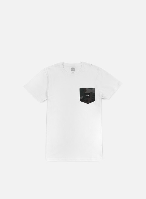 t shirt huf muted camo contrast pocket t shirt white
