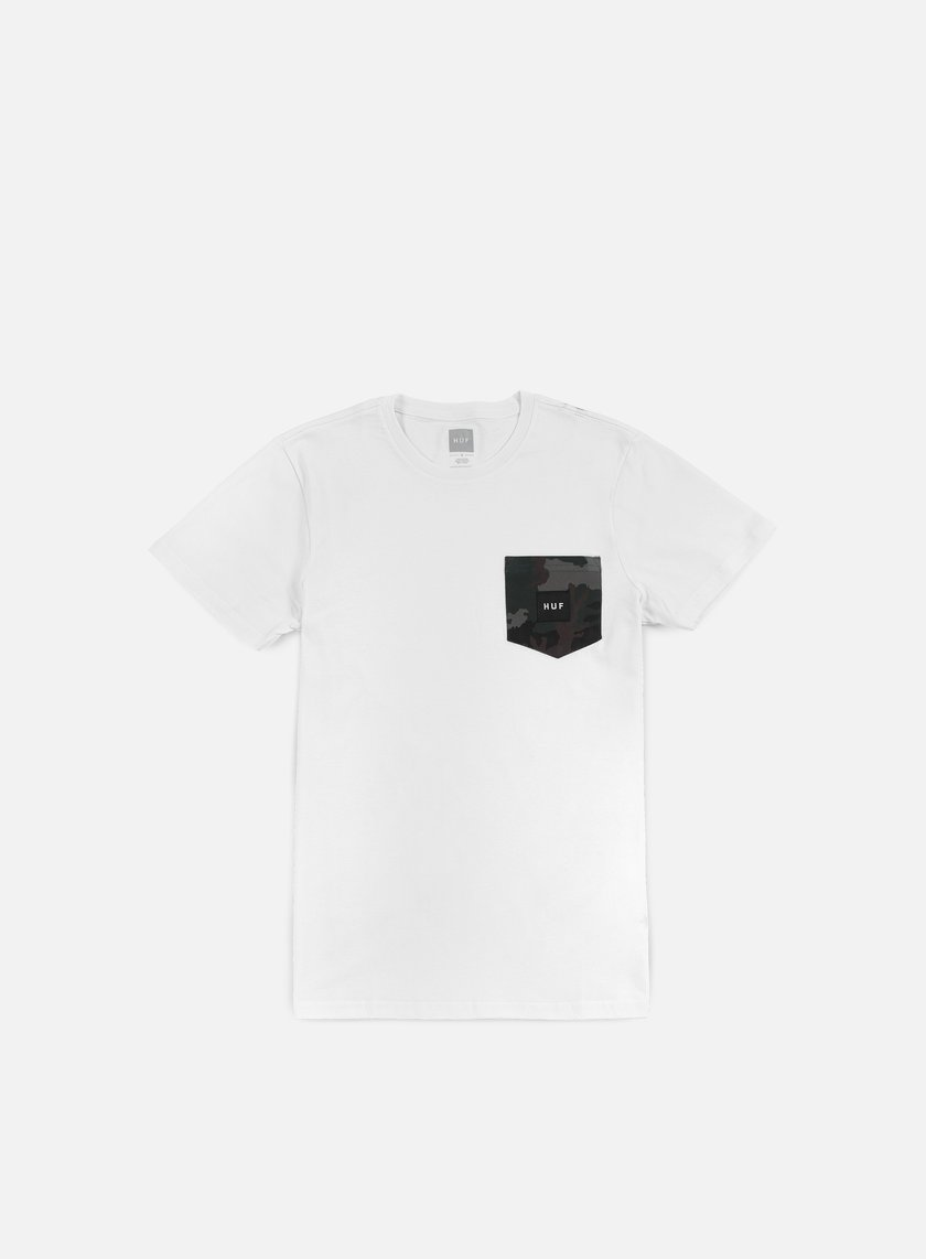 Huf - Muted Camo Contrast Pocket T-shirt, White