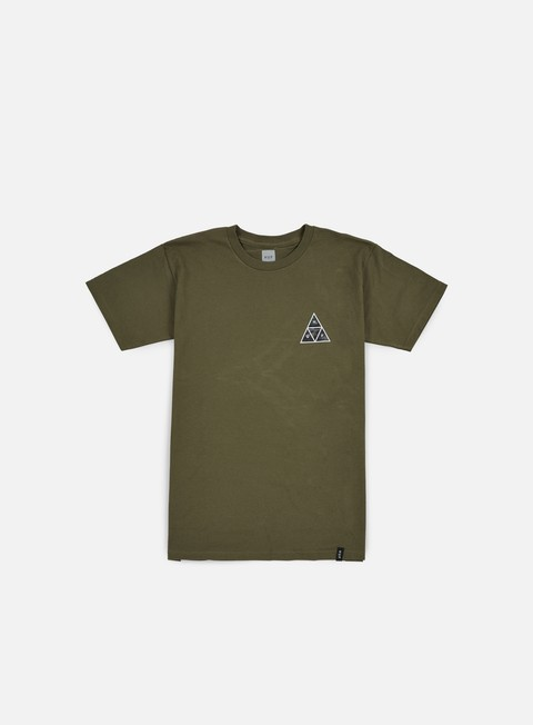 Outlet e Saldi T-shirt a Manica Corta Huf Muted Military Triple Triangle T-shirt