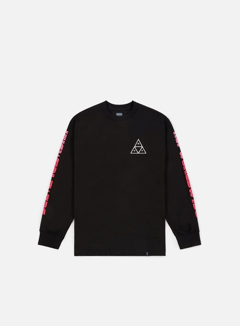 t shirt huf neo tt ls t shirt black