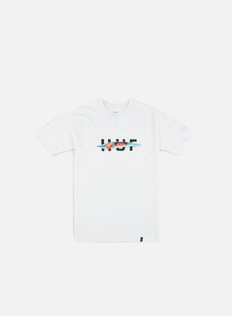 t shirt huf og logo ripped t shirt white