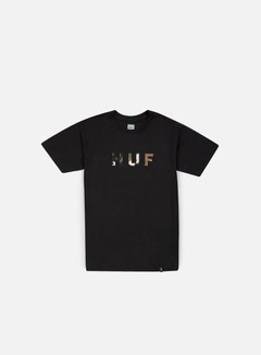 Huf - Original Logo T-shirt, Black/Camo 1