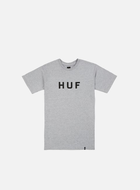 t shirt huf original logo t shirt grey heather black