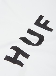 Huf - Original Logo T-shirt, White/Black 2