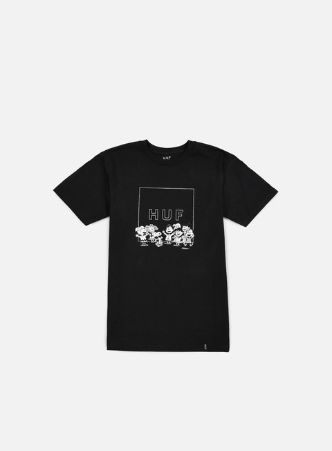 t shirt huf peanuts gang box logo t shirt black