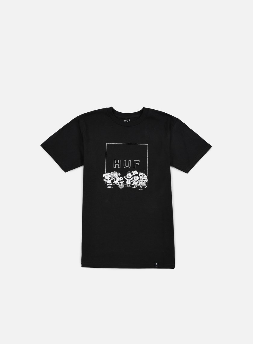 Huf - Peanuts Gang Box Logo T-shirt, Black