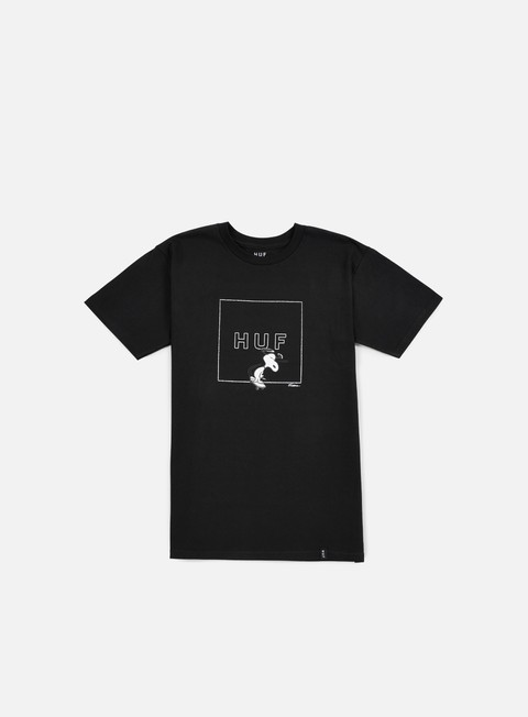 t shirt huf peanuts snoopy box logo t shirt black