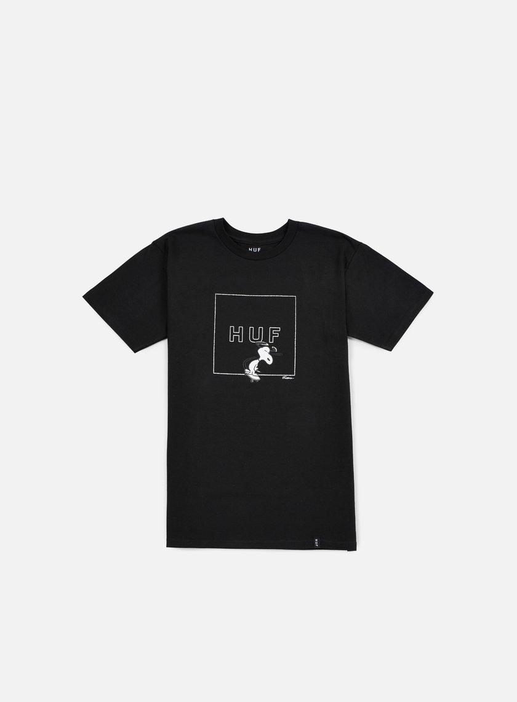 Huf - Peanuts Snoopy Box Logo T-shirt, Black