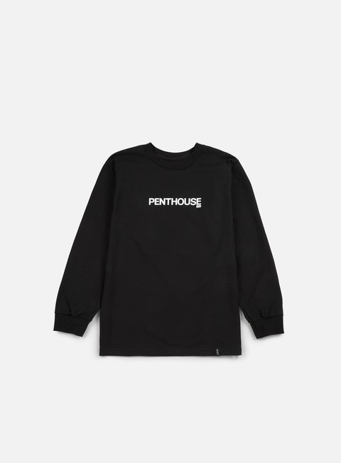 t shirt huf penthouse lips long sleeve t shirt black