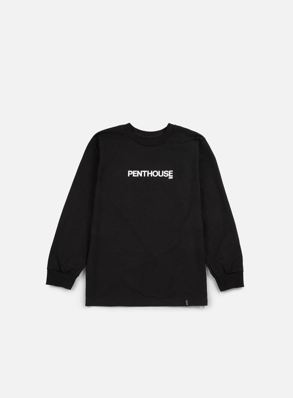 Huf - Penthouse Lips Long Sleeve T-shirt, Black
