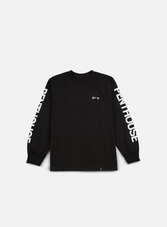 Huf - Penthouse Long Sleeve T-shirt, Black/White 1