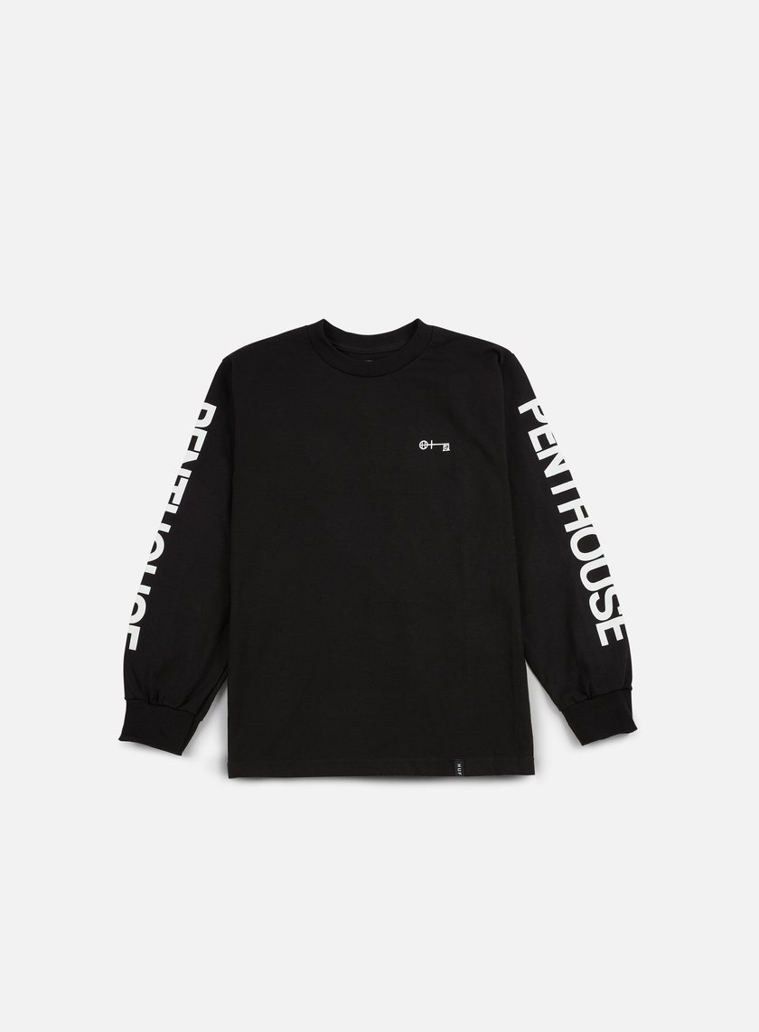 Huf - Penthouse Long Sleeve T-shirt, Black/White